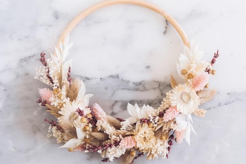 evjf la rochelle atelier couronne de fleurs