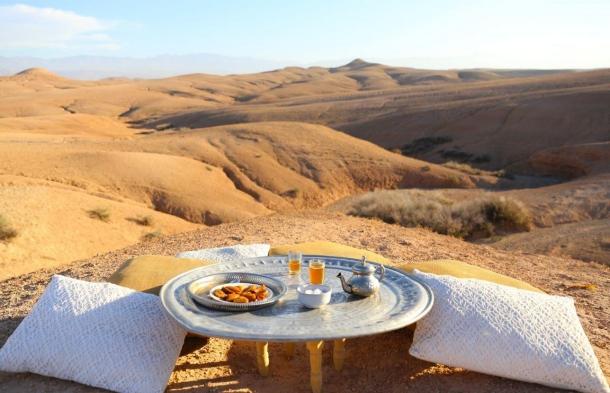 evjf marrakech diner dans le desert