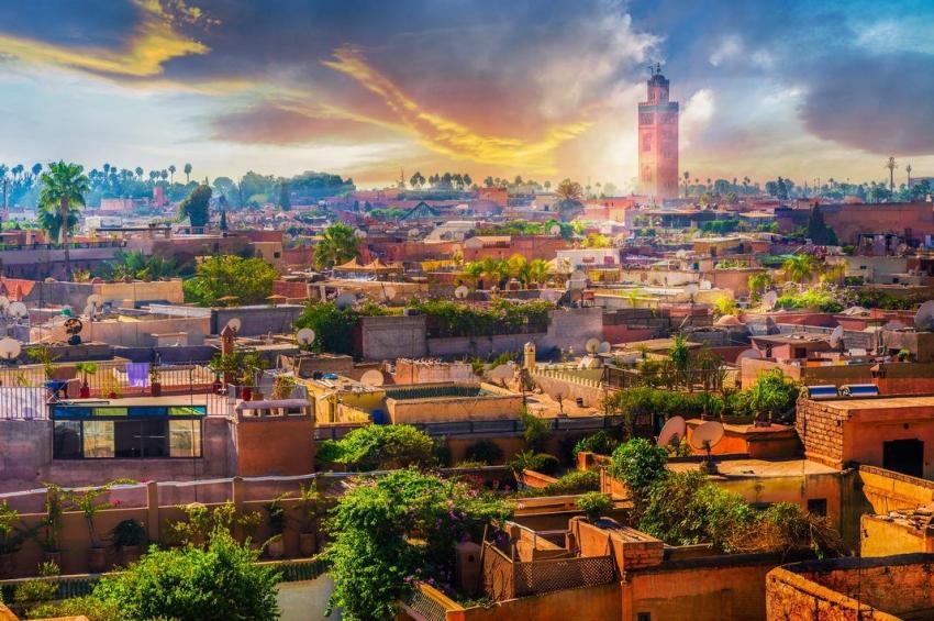 panorama de la ville de marrakech