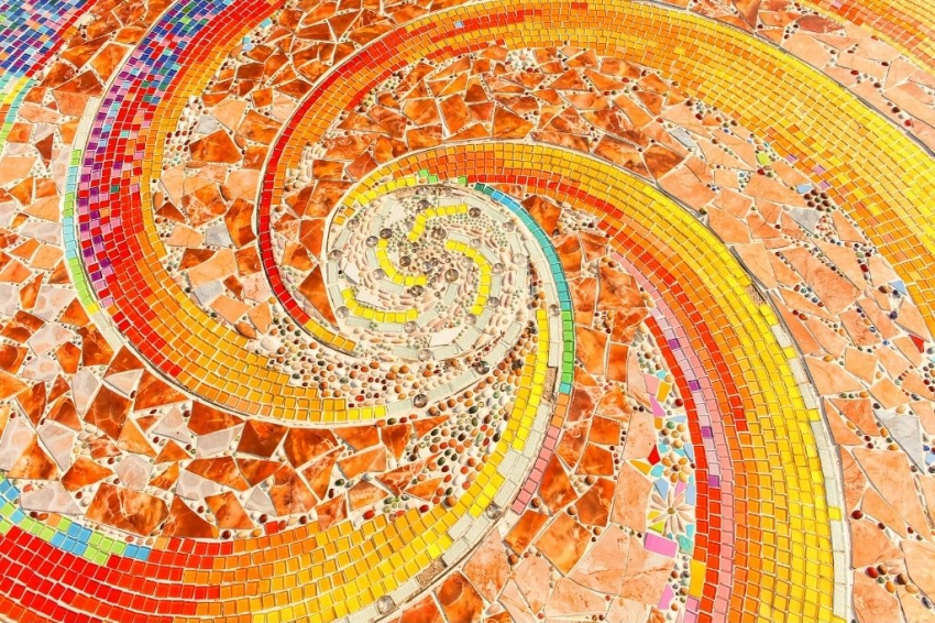 carreaux de mosaique colores